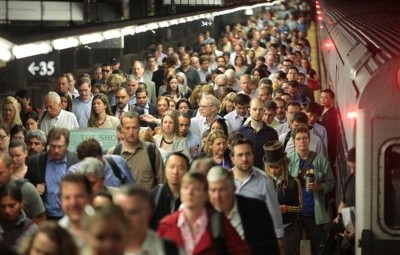 crowded Penn Station
