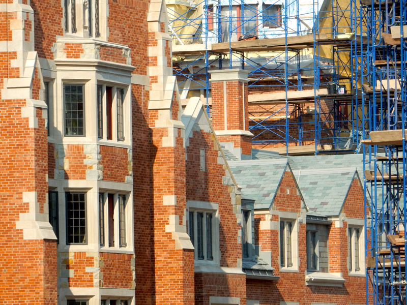 New residential quads at Yale under construction