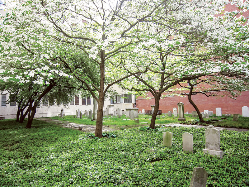 One of Franck's designs, the Congregation Shearith Israel Historic Cemetery Preservation Project.