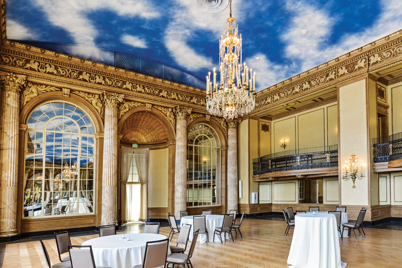 In the Grand Ballroom, the plaster,  decorative finishes and skyscape were restored. (All photos: Robert Watson Photography & John Felipe unless otherwise noted)