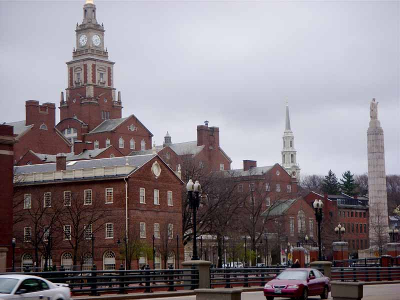 College Hill, in Providence, is a concerto of brick. Photo: David Brussat